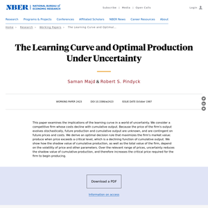 The learning curve and optimal production under uncertainty