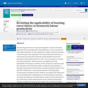 Revisiting the applicability of learning curve theory to formwork labour productivity