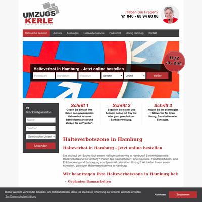 Umzugskerle GmbH - Halteverbotsservice Hamburg