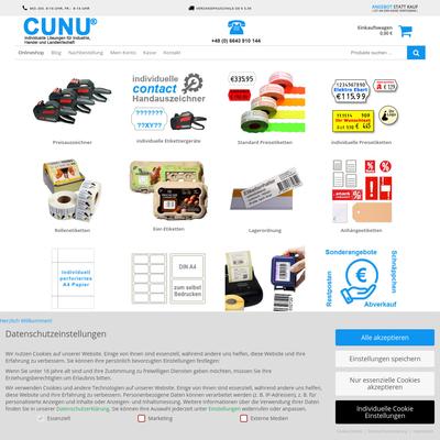 CuNU Preisauszeichner und Etiketten