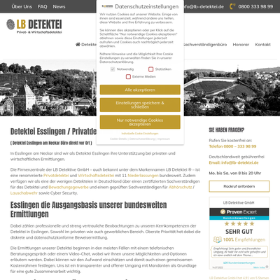 LB Detektive GmbH - Detektei Esslingen