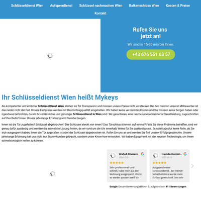 Mykeys Schlüsseldienst Wien