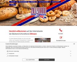 Vorschau der Homepage von D-14542 Bäckerei Werner Zillmann