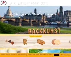 Vorschau der Homepage von Dr.Quendt Backwaren GmbH