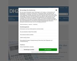 Vorschau der Homepage von Deutsche Handwerks Zeitung