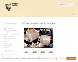Vorschau der Homepage von Käsereibedarf BUNTE KUH