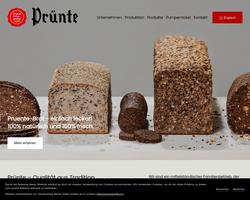 Vorschau der Homepage von D-45883 Prünte-Brot