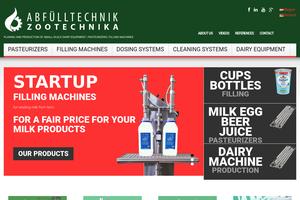 Vorschaubild der Homepage von Molkereimaschinen für Bäuerliche Direktvermarkter und Kleinmolkereien