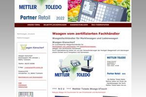 Vorschaubild der Homepage von Waagen Kienscherf - Ladenwaagen Marktwaagen