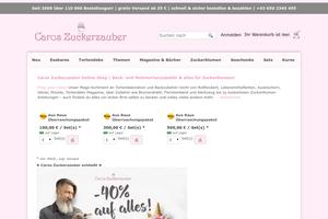 Vorschaubild der Homepage von Caros Zuckerzauber Shop
