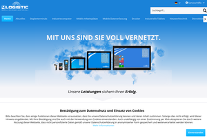 Vorschaubild der Homepage von 4logistic Industriecomputer