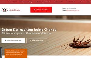Vorschau der Homepage von Axel Schreier - Schädlingsbekämpfung und Taubenabwehr