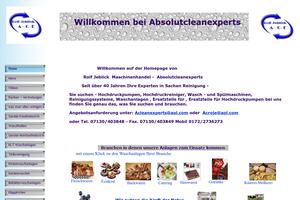 Vorschaubild der Homepage von Absolut Cleanexperts