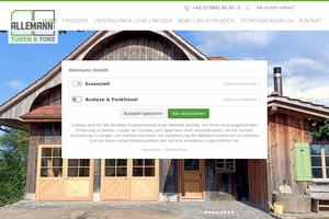 Vorschaubild der Homepage von ALLEMANN GmbH