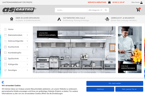 Vorschaubild der Homepage von Großküchentechnik & Gastronomiebedarf von as-Gastro
