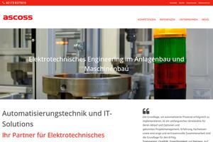Vorschaubild der Homepage von ascoss GmbH - Prozessautomation