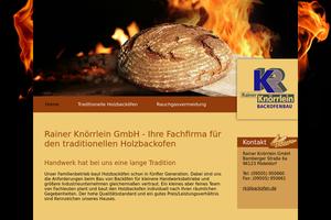 Vorschaubild der Homepage von Backofenbau Rainer Knörrlein