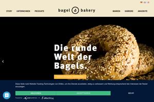 Vorschaubild der Homepage von Bagel Bakery GmbH, Amerikanische Backwaren