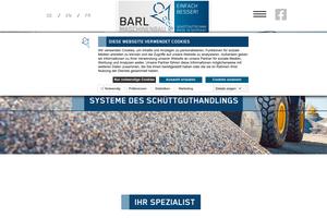 Vorschaubild der Homepage von Schüttguttechnik von Barl Maschinenbau GmbH