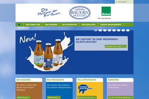 Vorschaubild der Homepage von Bauernmolkerei