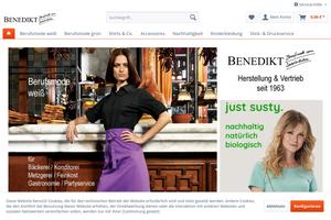 Vorschaubild der Homepage von Modische Berufskleidung Josef Benedikt