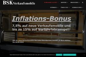 Vorschaubild der Homepage von BSK Verkaufswagen