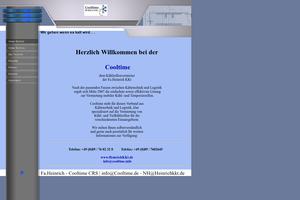 Vorschaubild der Homepage von Kühlzellenvermieter cooltime.info
