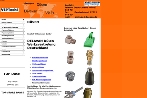 Vorschaubild der Homepage von Düsen  Delavan SDX  zur  Sprühtrocknung  u. Coating