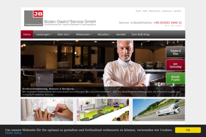 Vorschaubild der Homepage von Boden Gastro Service GmbH