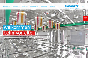 Vorschaubild der Homepage von Dosieren Abfüllen Verpacken mit Herbert  Grunwald GmbH