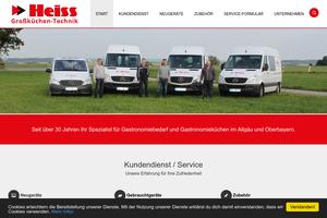 Vorschaubild der Homepage von Küchentechnik Heiss