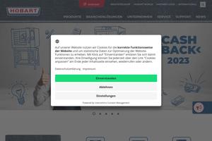 Vorschaubild der Homepage von Hobart GmbH