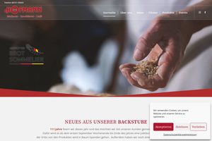 Vorschaubild der Homepage von D-64297 Bäckerei-Konditorei Hofmann