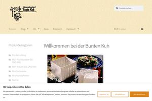 Vorschaubild der Homepage von Käsereibedarf BUNTE KUH