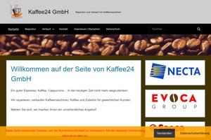 Vorschaubild der Homepage von Kaffee24