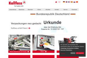 Vorschau der Homepage von Kallfass Verpackungsmaschinen GmbH, Folienverpackung