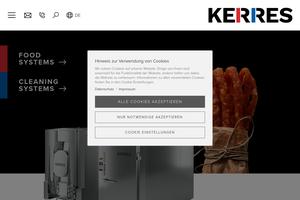 Vorschaubild der Homepage von Kerres Cleaningsystems