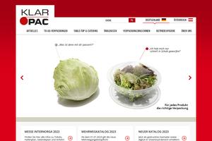 Vorschaubild der Homepage von KLAR PAC Klarsichtpackung GmbH