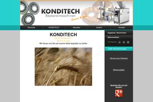 Vorschaubild der Homepage von KONDITECH Service & mehr  für Bäckereimaschinen