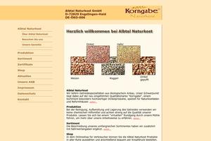Vorschaubild der Homepage von Albtal Naturkost GmbH