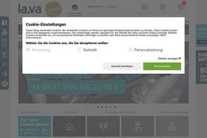 Vorschaubild der Homepage von Vakuumierer in Profiqualität von Lava