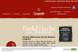 Vorschaubild der Homepage von D-30823 Bäckerei Langrehr in Garbsen und Hannover