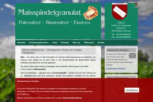 Vorschaubild der Homepage von Maisgranulat zum Besteckpolieren