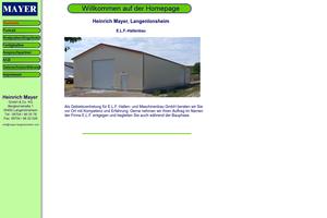 Vorschaubild der Homepage von Mayer Landmaschinen