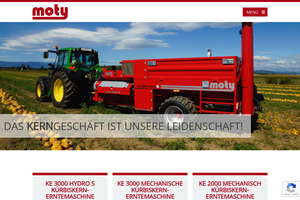 Vorschaubild der Homepage von MOTY - Landmaschinen Kroepfel