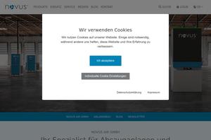 Vorschaubild der Homepage von Novus air GmbH