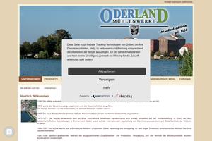 Vorschaubild der Homepage von D-15299 Oderland Mühlenwerke Müllrose GmbH & Co. KG