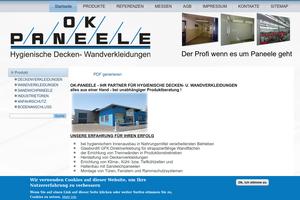 Vorschaubild der Homepage von Wandverkleidung von OK - Paneele