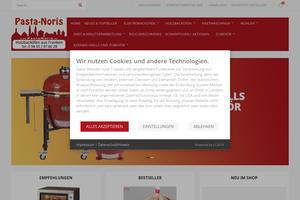 Vorschaubild der Homepage von Pasta-Noris, Der Backofenspezialist aus Nürnberg