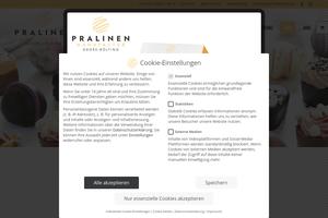 Vorschaubild der Homepage von Pralinenmanufactur Josef Große-Bölting aus Rhede